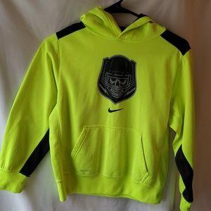 NIKE boys neon dri-fit football hoodie size Medium